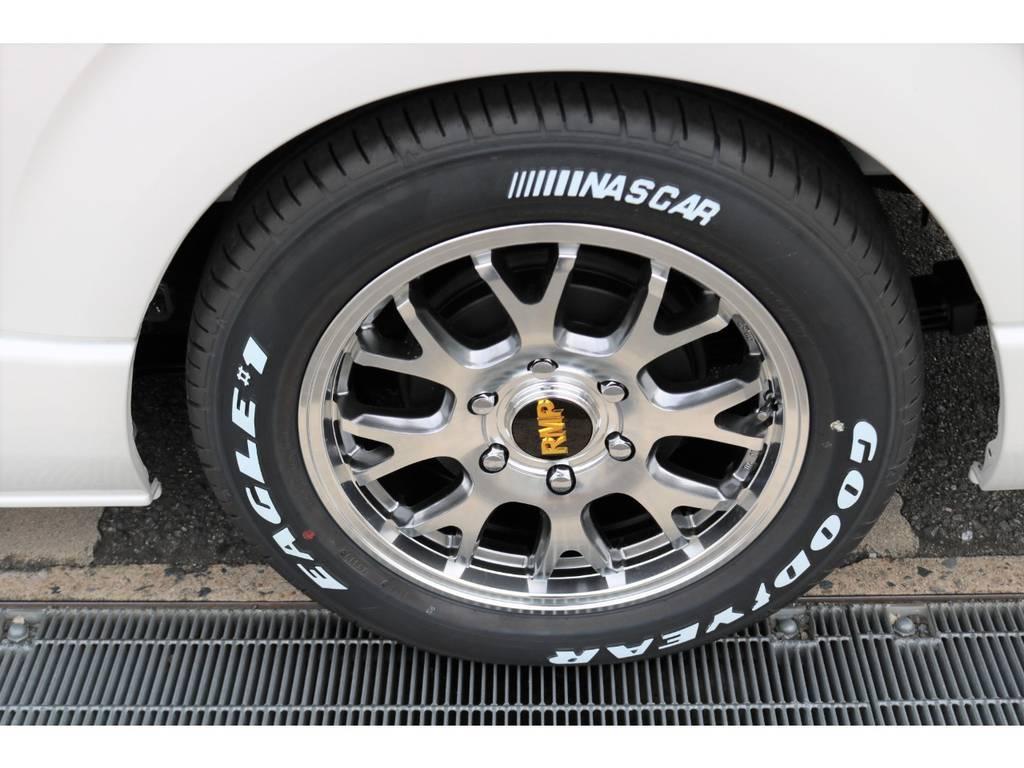 17インチRMP028AW&ナスカーホワイトレタータイヤ!