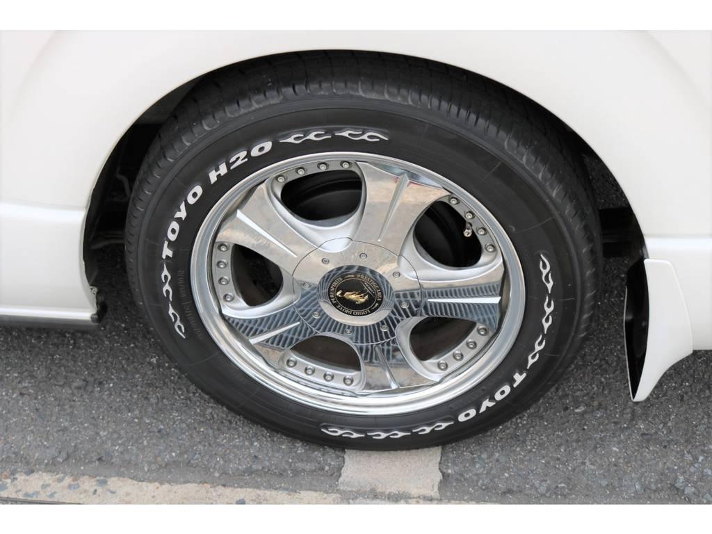 ロデオドライブ17インチAW&H20ホワイトレタータイヤ!