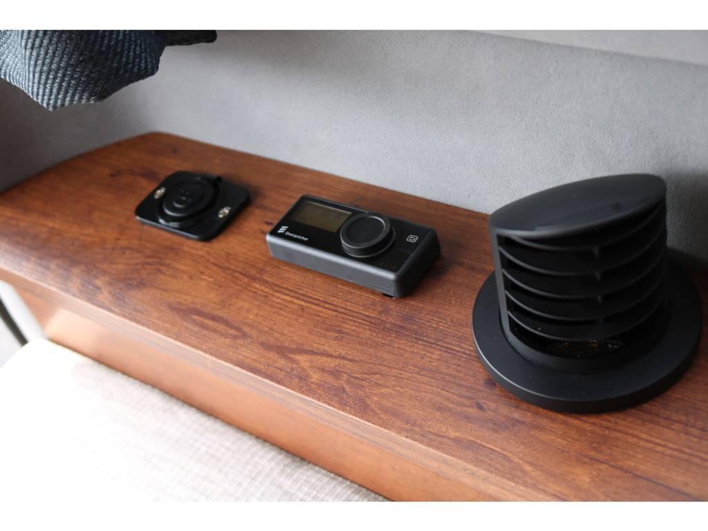 エバスペッヒャー製FFヒーター!12Vシガーコンセントも1か所装備しました。