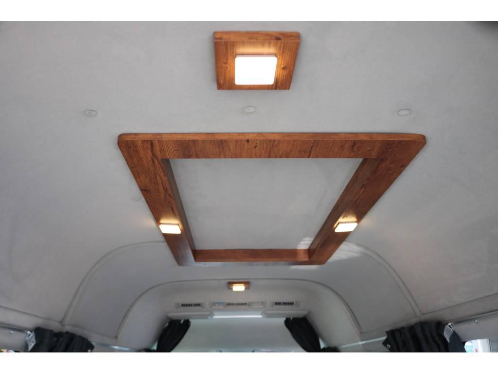 ルームライトも完備!じつは、天井&壁面に断熱処理を施しております!なんとこれも標準装備です!