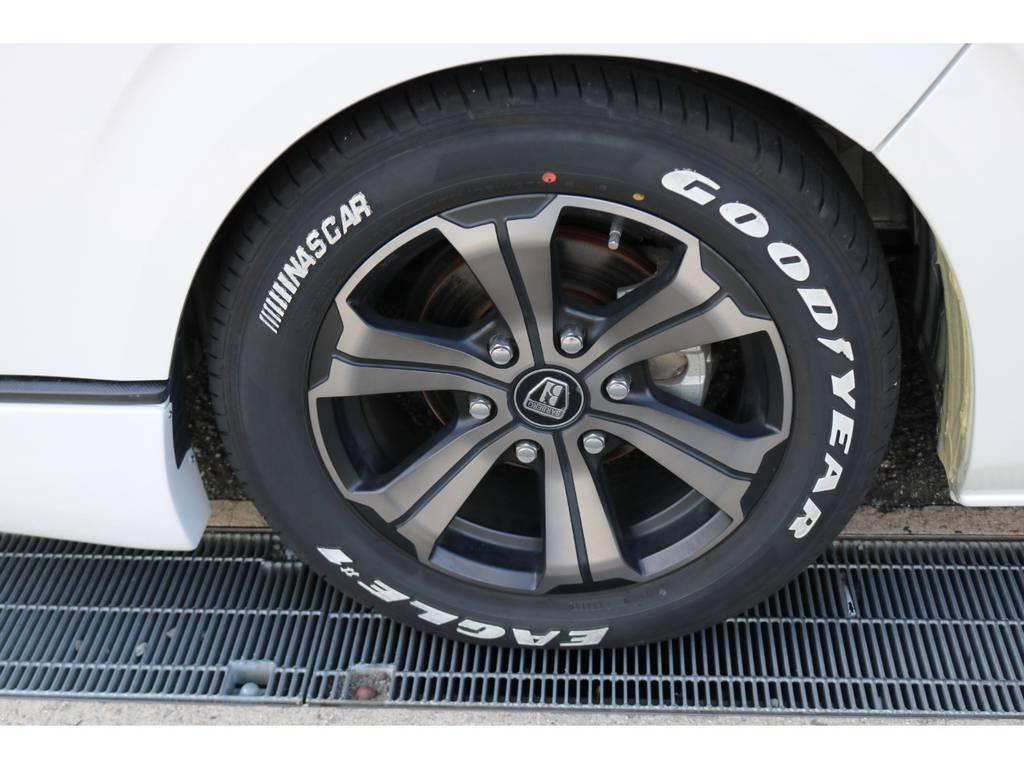 バルベルグランデ17AW&ナスカーホワイトレタータイヤ!AWはFLEXオリジナルカラーです!