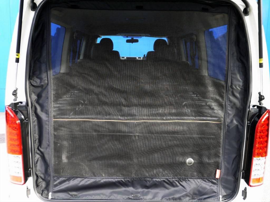 車中泊に便利な防虫ネットもついてますよ☆