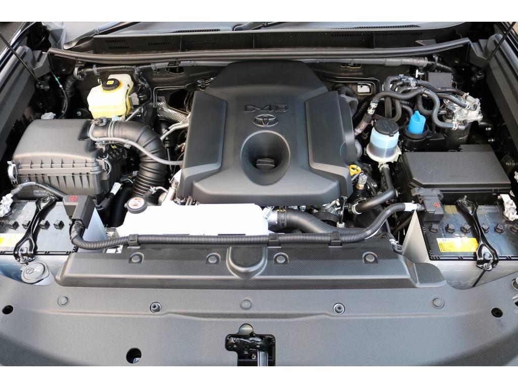 エンジンルーム!最新のディーゼルターボ! | トヨタ ランドクルーザープラド 2.8 TX ディーゼルターボ 4WD