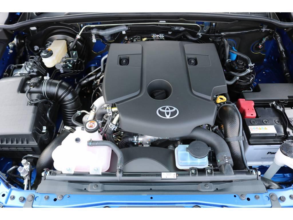 エンジンルーム! | トヨタ ハイラックス 2.4 Z ディーゼルターボ 4WD Z