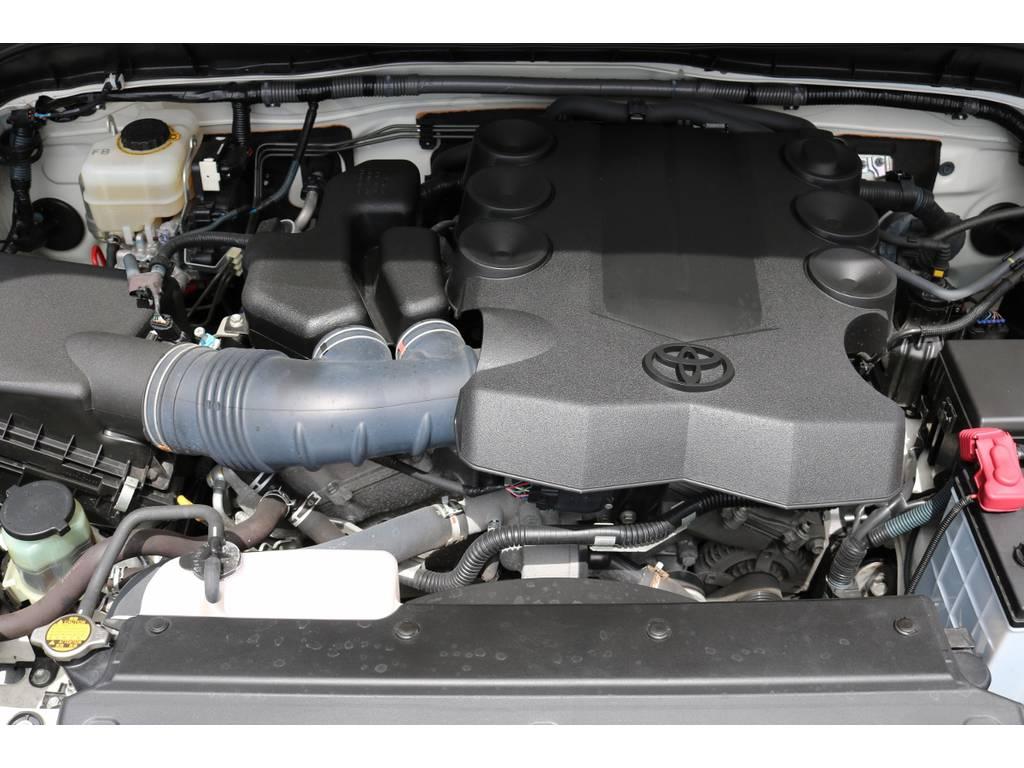 エンジンルームコンディションも良好です! | トヨタ FJクルーザー 4.0 カラーパッケージ 4WD
