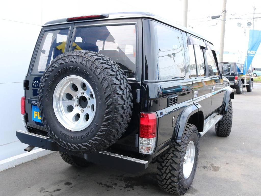 背面タイヤも合わせて交換済み!