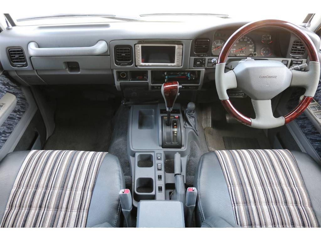 インパネ廻り!目線も高く、視界も良好です! | トヨタ ランドクルーザープラド 3.0 SXワイド ディーゼルターボ 4WD