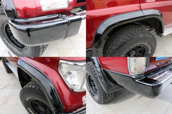 New各部ブラックペイントを施しました! | トヨタ ランドクルーザープラド 3.0 SXワイド ディーゼルターボ 4WD