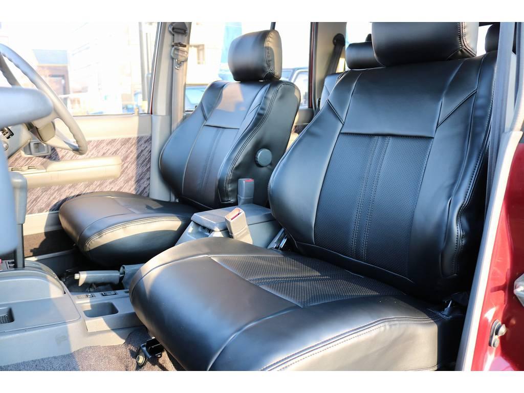新品レザー調シートカバー! | トヨタ ランドクルーザープラド 3.0 SXワイド ディーゼルターボ 4WD