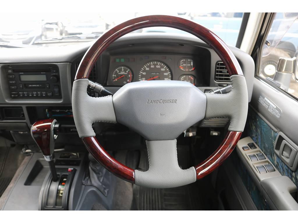 新品ウッド調コンビハンドル&シフトノブ! | トヨタ ランドクルーザープラド 3.0 SXワイド ディーゼルターボ 4WD
