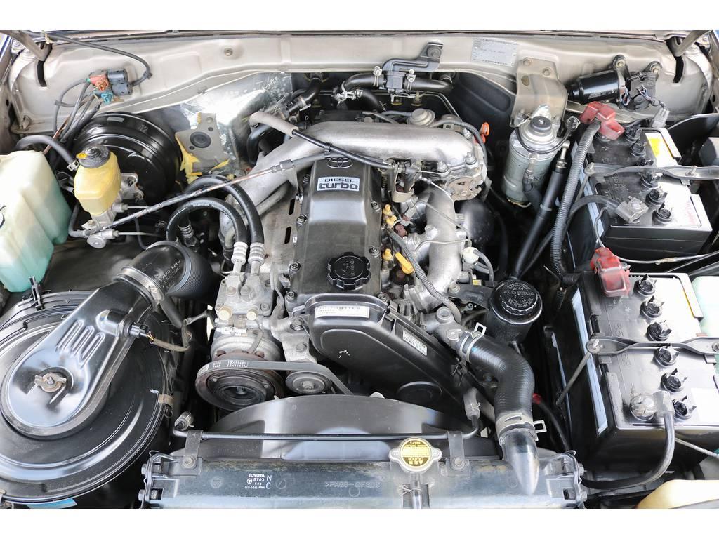 耐久性&信頼性に定評ある1KZエンジン搭載です! | トヨタ ランドクルーザープラド 3.0 SXワイド ディーゼルターボ 4WD