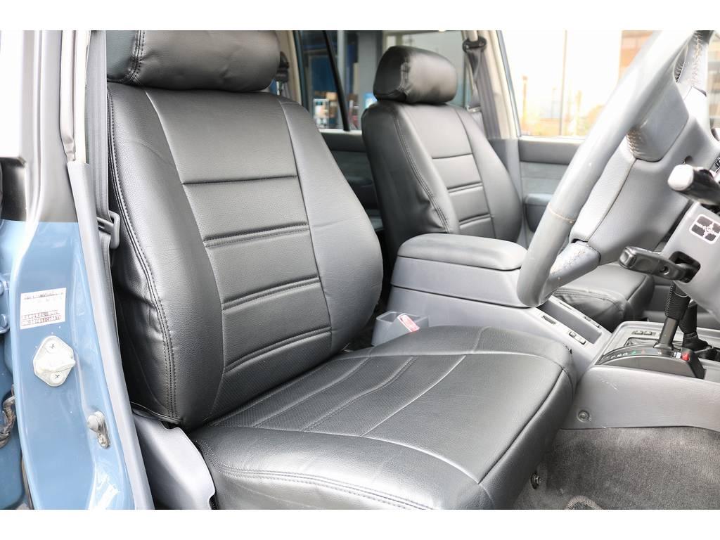 新品レザー調シートカバー装着! | トヨタ ランドクルーザー80 4.2 VXリミテッド ディーゼルターボ 4WD