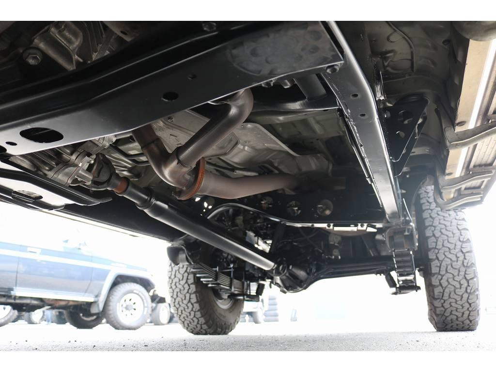 下廻りは洗浄後、防腐パスター仕上げにてお渡しさせていただきます。 | トヨタ ランドクルーザー70ピックアップ 4.0 4WD ブラッドレー