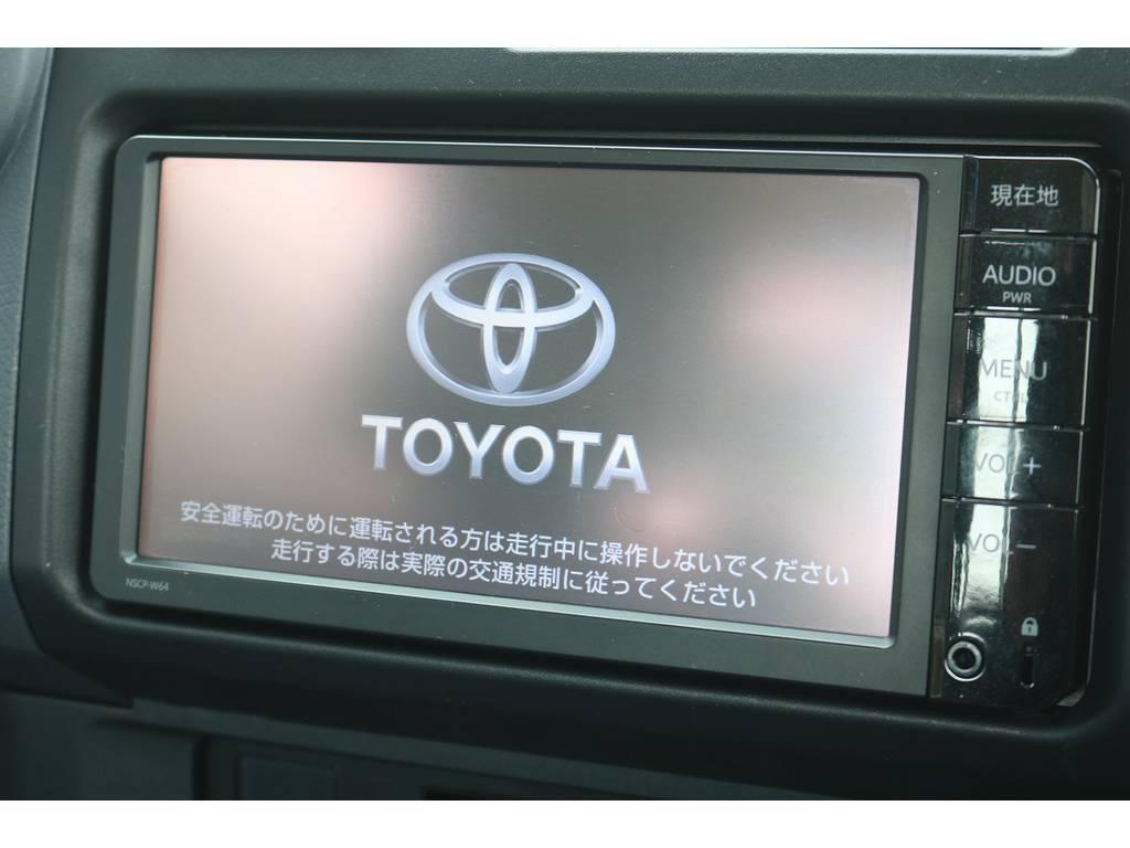 ディーラーオプション装備のSDナビTV付きです!TVキット付きで走行中操作も可能ですよ! | トヨタ ランドクルーザー70ピックアップ 4.0 4WD ブラッドレー