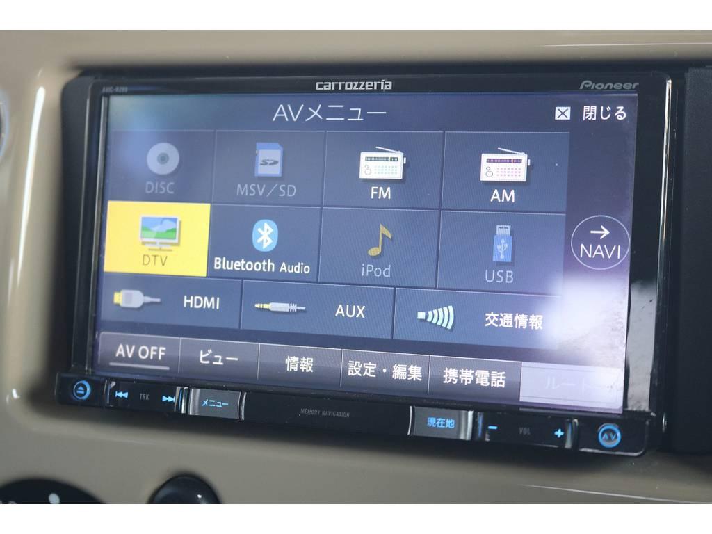 長旅には欠かせないSDナビTV付き!地デジ視聴可能です! | トヨタ FJクルーザー 4.0 オフロードパッケージ 4WD