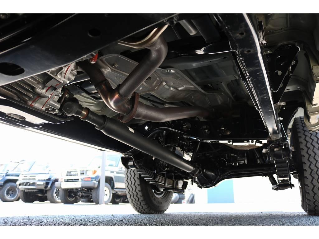 下廻りは洗浄後、防腐パスター仕上げにてお渡しさせていただきます! | トヨタ ランドクルーザー70ピックアップ 4.0 4WD