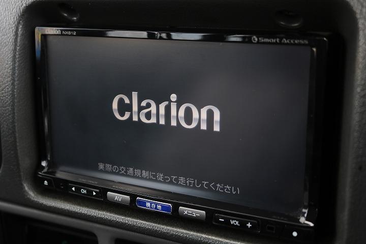 クラリオン製ナビTV完備!