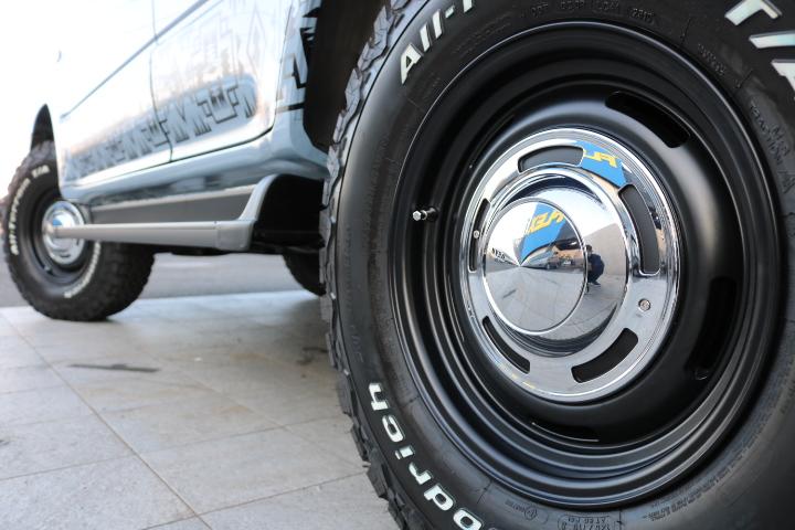 新品DEANクロスカントリー16インチAW&BF235ATタイヤ!背面まで5本セット!
