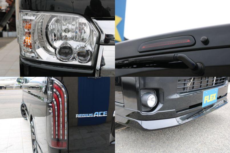 純正LEDヘッドライト&新品フロントリップスポイラー&煌REDテールランプ&ハイマウントストップランプ!