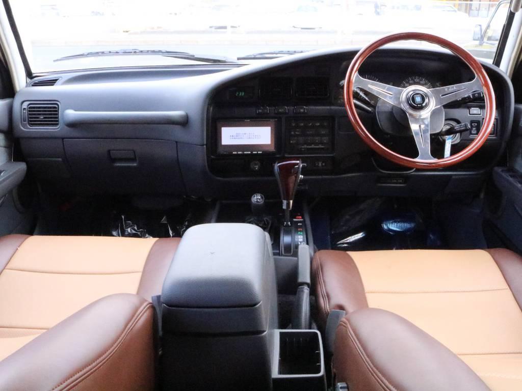新品NARDIステア&ウッドコンビシフト! | トヨタ ランドクルーザー80 4.5 VXリミテッド 4WD 丸目換装 60フェイス