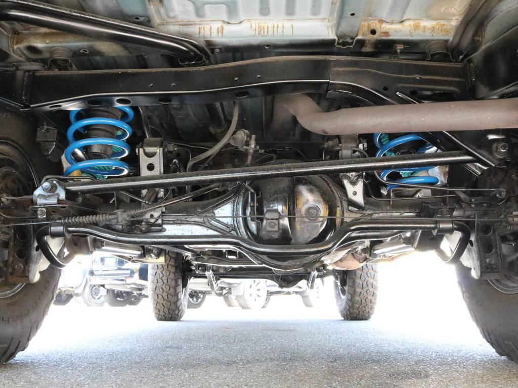 コイルも新品2インチUPのモノをインストールしております!! | トヨタ ランドクルーザー80 4.5 VXリミテッド 4WD 丸目換装 60フェイス