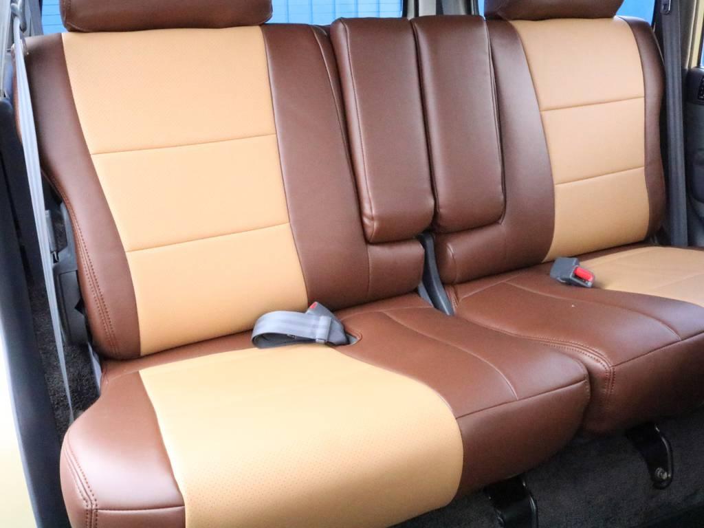 セカンドシート!シートカバーの取り付けもお任せください! | トヨタ ランドクルーザー80 4.5 VXリミテッド 4WD 丸目換装 60フェイス