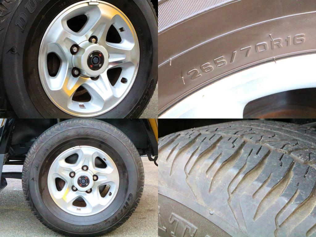 タイヤの残り溝もまだ御座います☆カスタムも大歓迎です☆ | トヨタ ランドクルーザー70 4.0 4WD 再販モデル NEWペイント202ブラック