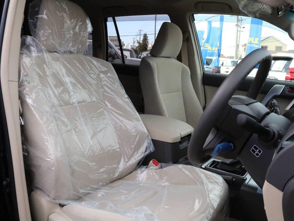洗練されたタフでオシャレな室内シートです。 | トヨタ ランドクルーザープラド 2.8 TX ディーゼルターボ 4WD 5人