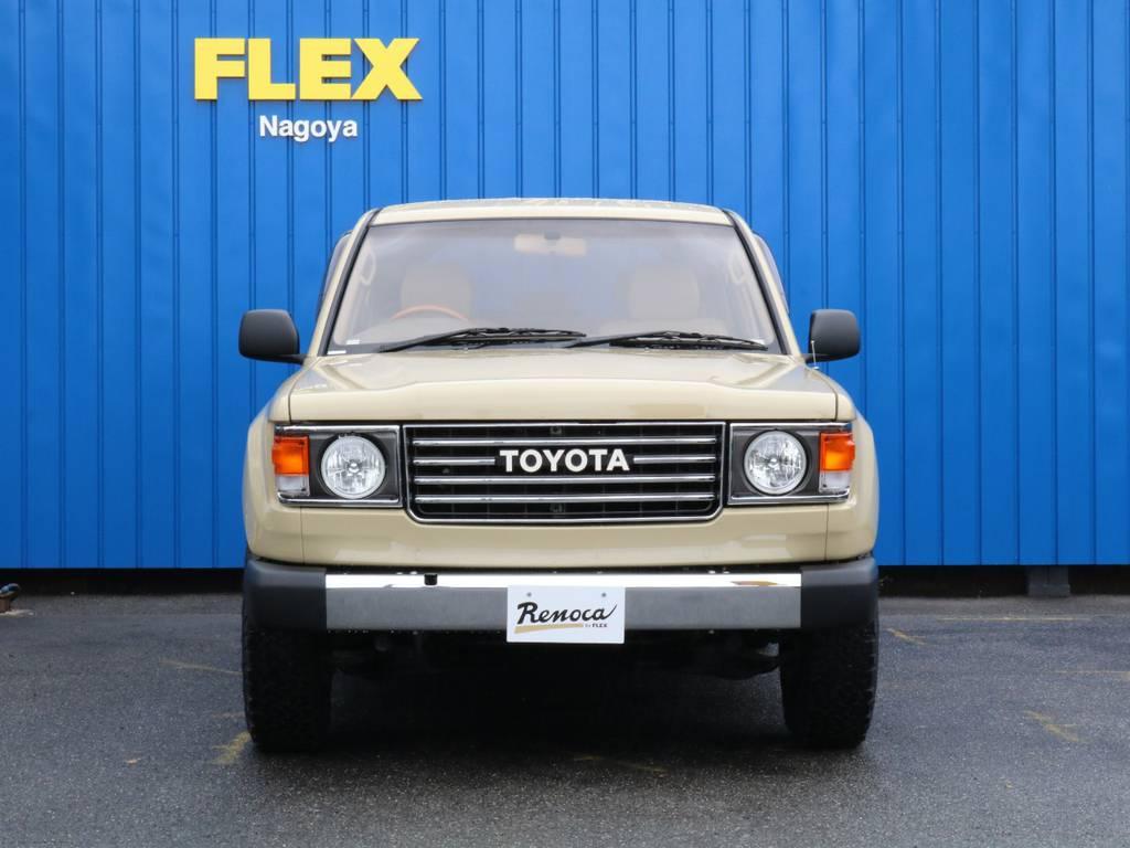 フロントとリアバンパーが拘りです。ランクル100に鉄バンパーを合わせました。 | トヨタ ランドクルーザー100 4.7 VXリミテッド 4WD RenocaType106