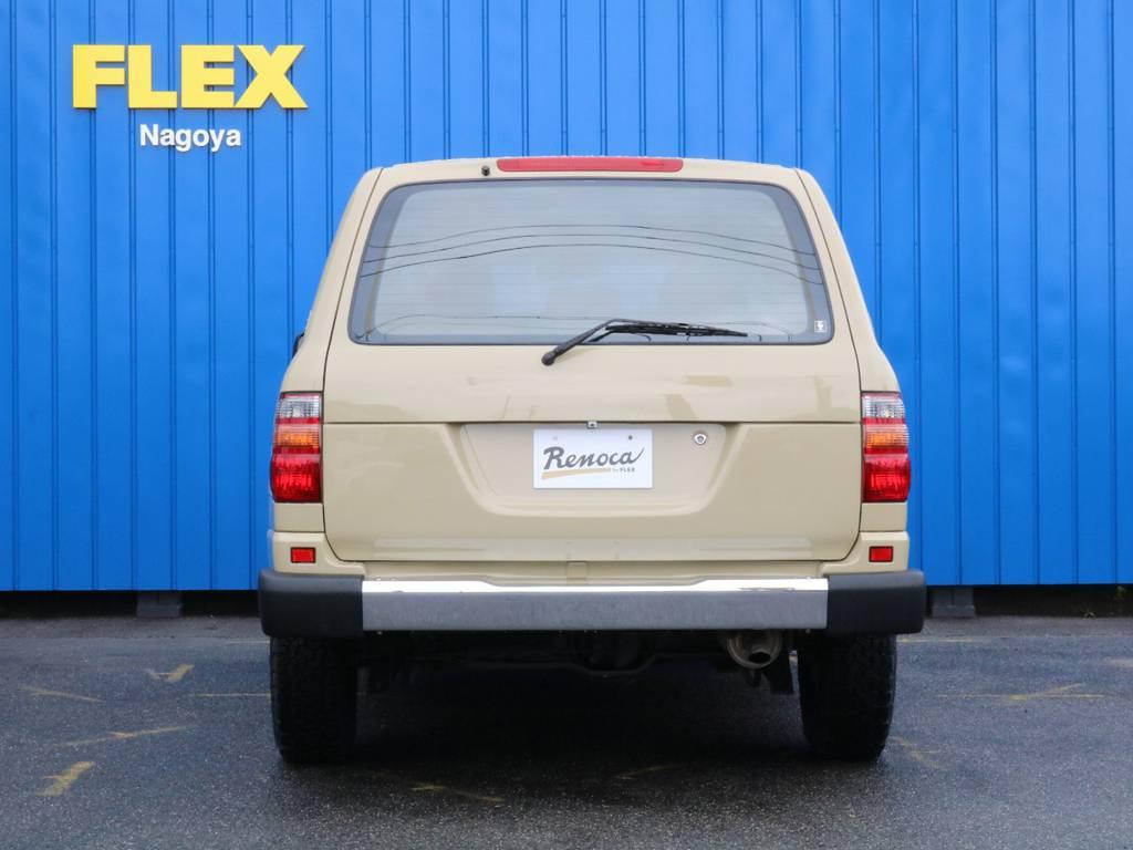 リアゲートもスムージング加工をしております。古臭い感じを演出しております。 | トヨタ ランドクルーザー100 4.7 VXリミテッド 4WD RenocaType106