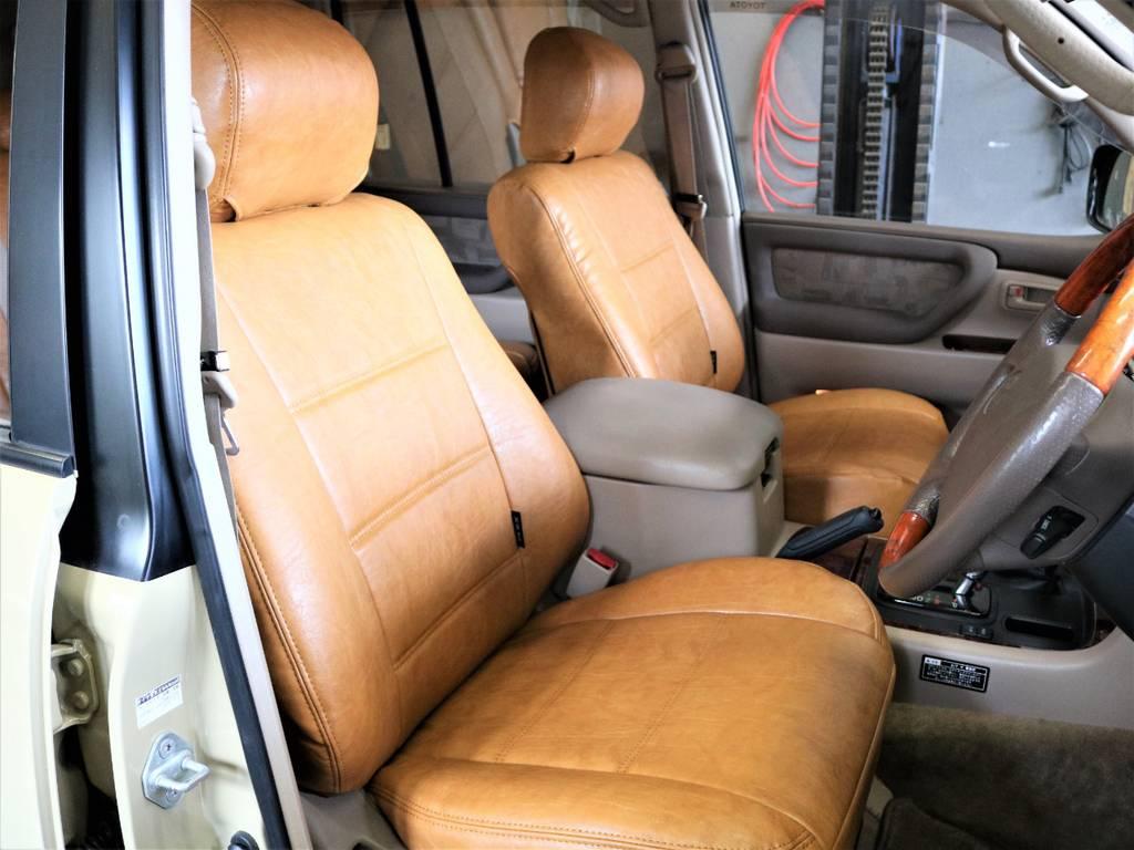 Renoca専用シートカバーをインストール! | トヨタ ランドクルーザー100 4.7 VXリミテッド 4WD RenocaType106
