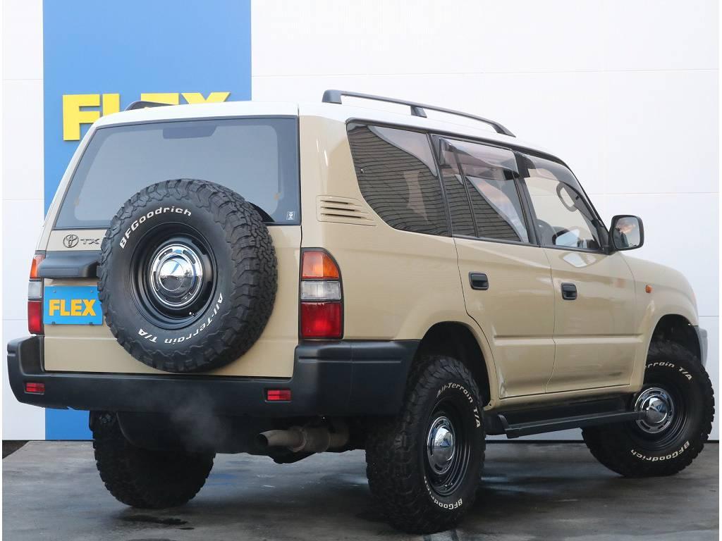 フレックススタイルカスタム済の一台です。街中でお乗り頂くと2度見される事間違いない一台です♪ | トヨタ ランドクルーザープラド 3.4 TX 4WD