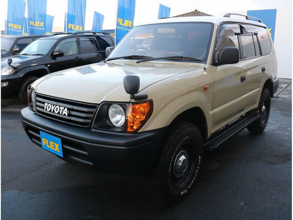 沖縄~北海道まで日本全国販売可能です!細かい部分などはお写真お撮りさせて頂き、お送りさせて頂いておりますので、まずはお気軽にお問い合わせをお待ちいたしております。 | トヨタ ランドクルーザープラド 3.4 TX 4WD