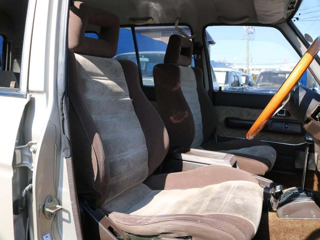 希少の茶内装でございます。外装色とマッチしております。 | トヨタ ランドクルーザー60 4.0 VX ハイルーフ 4WD フルオリジナル 角目四灯