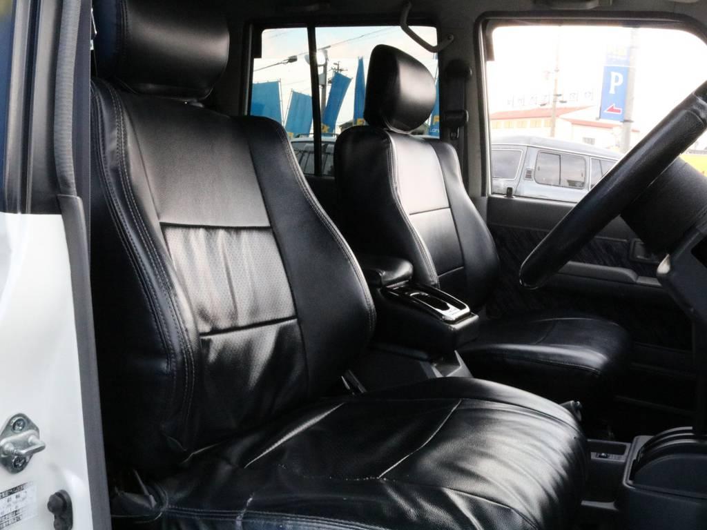 最上級グレードならではのサスペンションシートとなります。 | トヨタ ランドクルーザープラド 3.0 EXワイド ディーゼルターボ 4WD