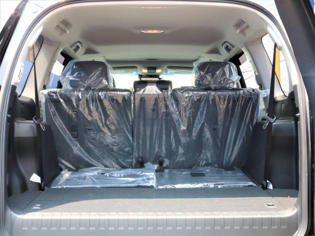 シートを格納していると沢山の荷物が詰める荷室です。