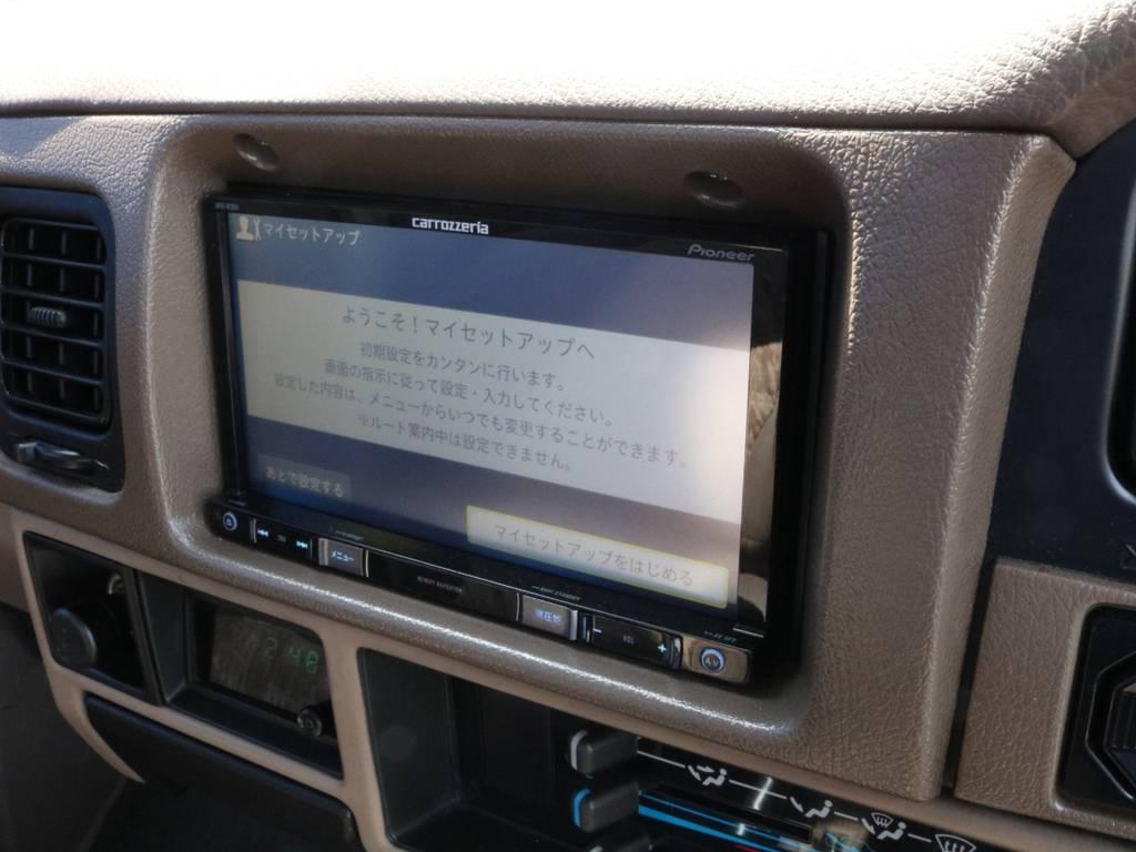 新品カロッツェリアナビ装着です。   トヨタ ランドクルーザープラド 3.0 SX ディーゼルターボ 4WD