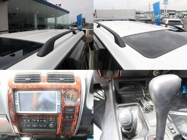 ルーフレール、木目パネルも装備も嬉しいですね! | トヨタ ランドクルーザープラド 2.7 TX 4WD