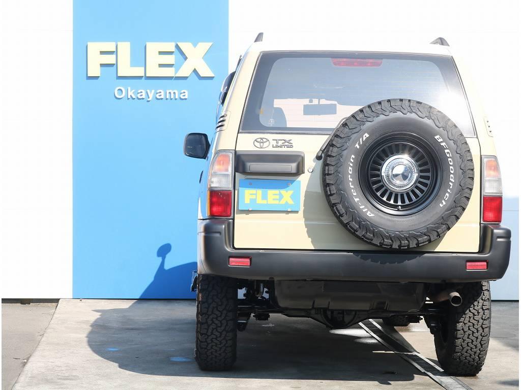 背面タイヤもセットで変わっております! | トヨタ ランドクルーザープラド 2.7 TX 4WD