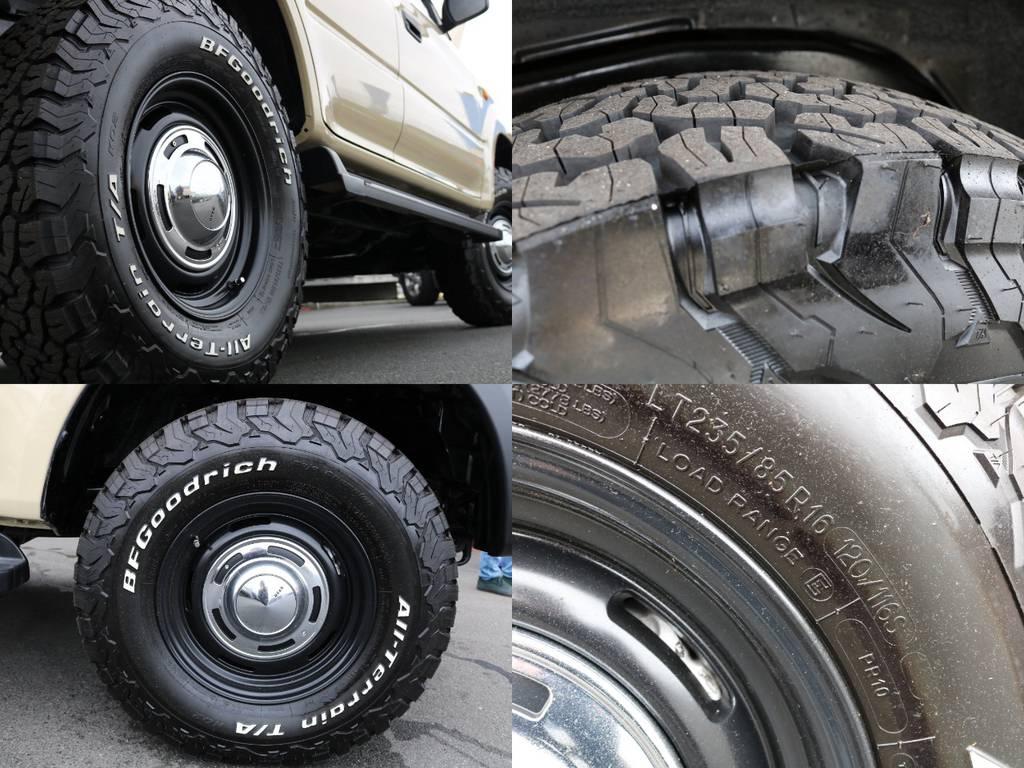 BFGタイヤにDEANアルミホイール装着されております!