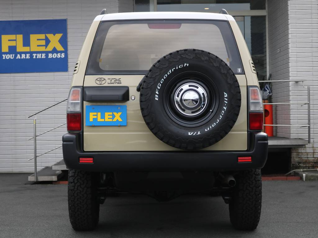背面タイヤもセットで変わっております!