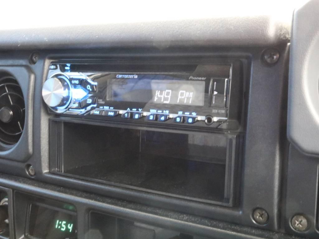 社外オーディオ装備。ナビも取り付け可能です。ご相談下さい。