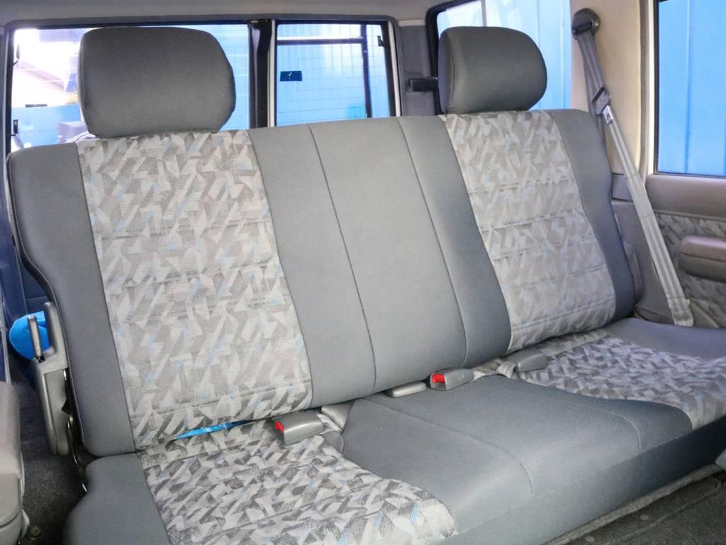 後部座席も広々しております。
