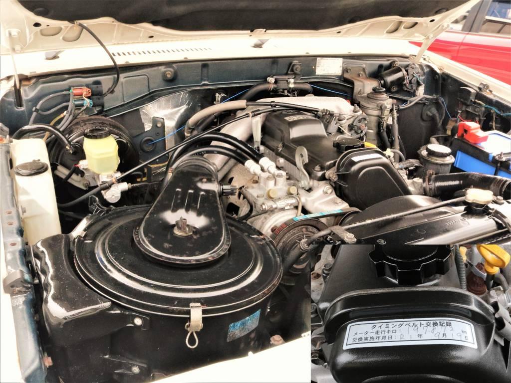 1KZ3000ccエンジンはトヨタの名機!走り出しからターボが掛かり心地良い走りをしてくれます。