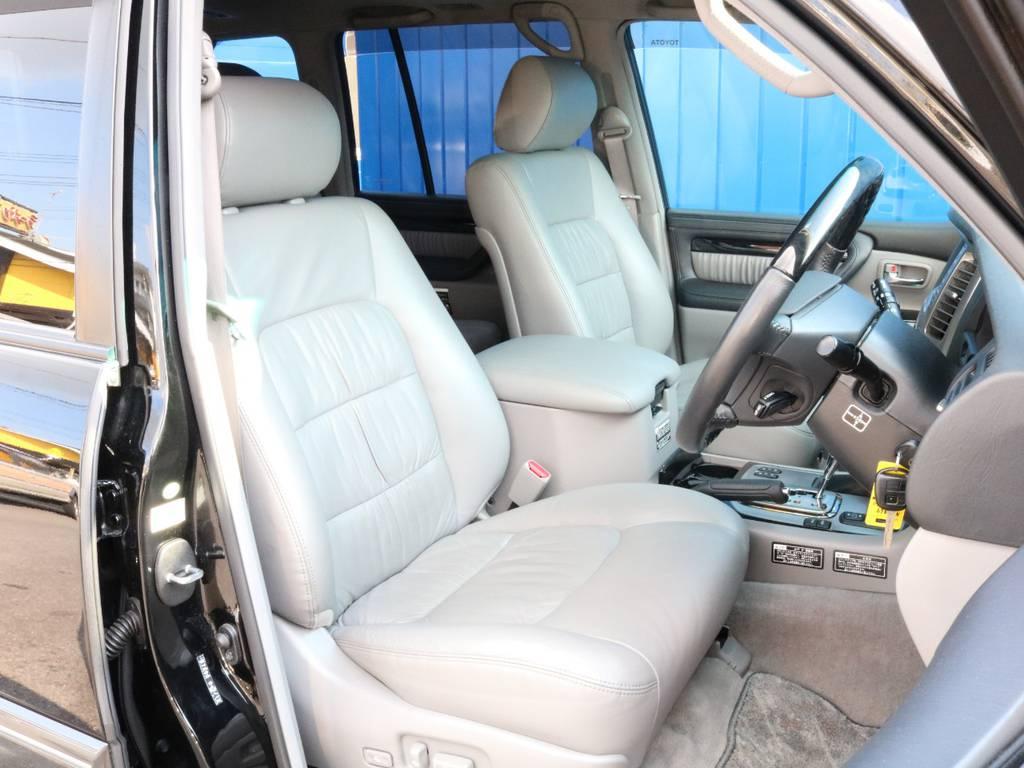 フロントシートはパワーシート装備です。 | トヨタ ランドクルーザーシグナス 4.7 60thスペシャルエディション 4WD