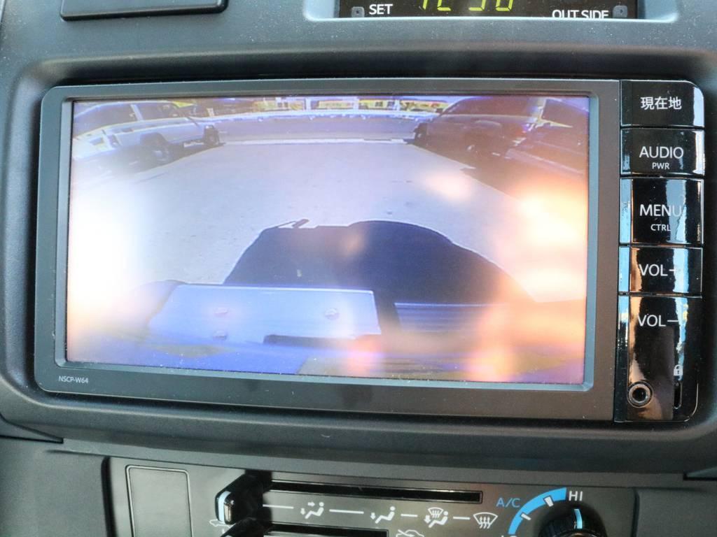 バックカメラはSUVにとって絶対的な装備になります。