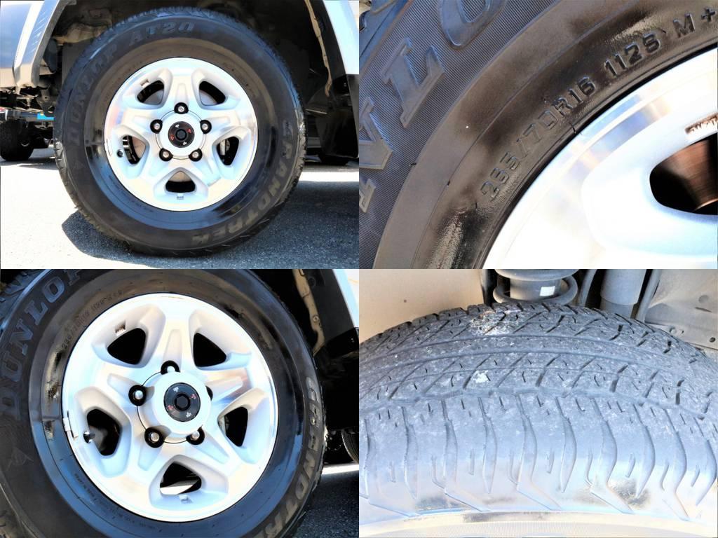 オートフリーハブを採用し2WDと4WDの切替が社内よりレバーひとつで変更できます!!