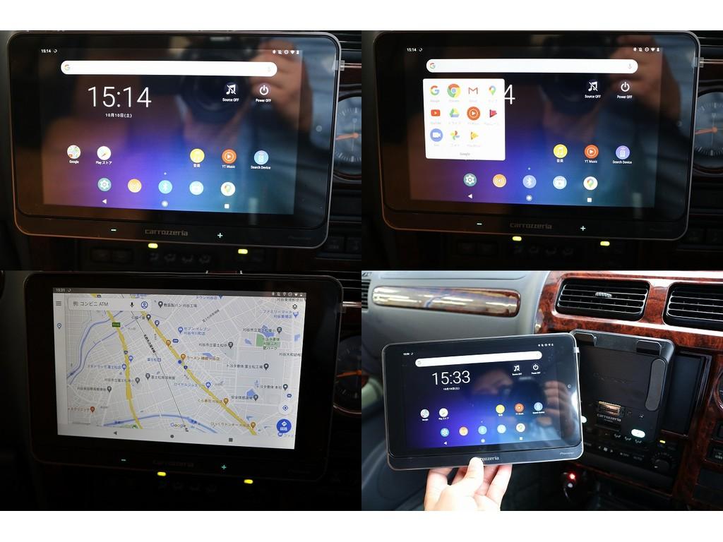 カロッツェリア製タブレット型AVシステムをインストール!自分のお使いの携帯と連動させることも出来ますし、旅行先で、タブレット端末として使うのも良し!夢が広がります★