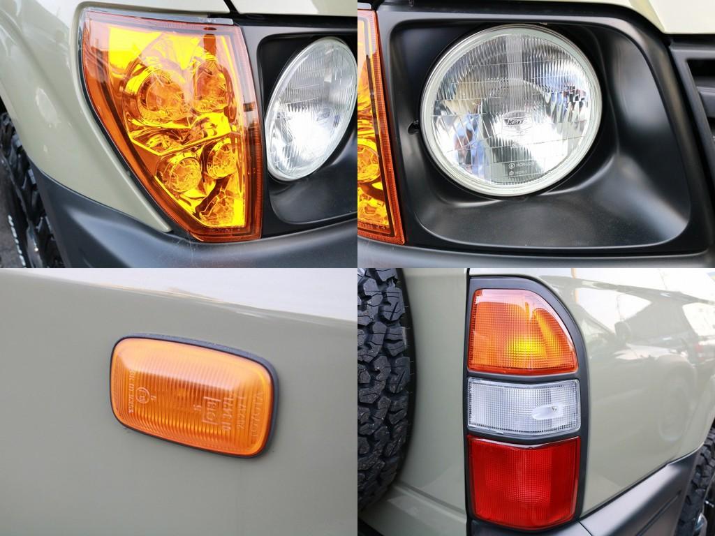 オレンジコーナー、3色テールを新品インストール!テールは純正の前期モデルを使用しております!これはフレックスでは当店が初です!(笑)