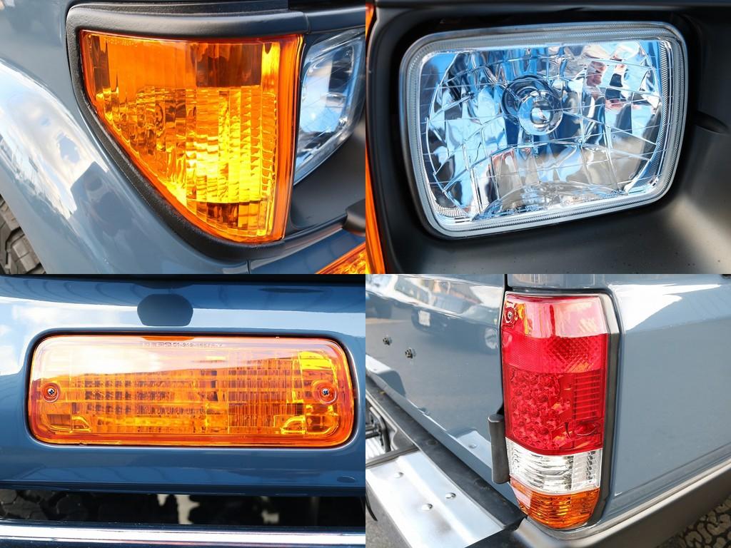 オレンジコーナー、フロントオレンジウィンカー、3色LEDテールと灯火類にもこだわりました!クリアも良いですが、オレンジだとカッコよさが2倍3倍増しですね(笑)